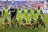 Seattle Sounders starting eleven. The Seattle Sounders defeated the New York Red Bulls 1-0 during a Major League Soccer (MLS) match at Red Bull Arena in Harrison, NJ, on May 15, 2010.