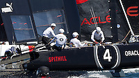 PORTUGAL, Cascais. 5th August 2011. America's Cup World Series. Practice day. ORACLE Racing Spithill.