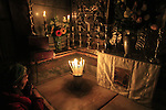 Israel, Jerusalem Old City, the chamber of the Holy Sepulchre, the Fourteenth Station of the Via Dolorosa