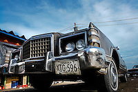 An American classic car from 1970s on the parking stand in Maracaibo, Venezuela, 9 May 2006.