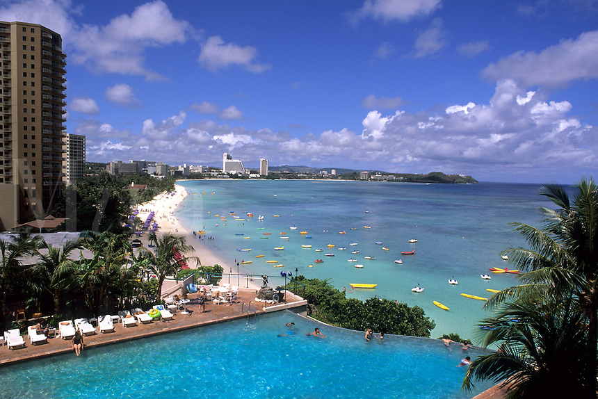 Guam Reef Hotel at beautiful Tumon Bay in Guam US