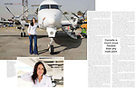 Marie Claire Reportage feature story - Pilot, Danielle Aitchison, with the Beechcraft 1900D she flies in Afghanistan for The United Nations Humanitarian Air Service (UNHAS).