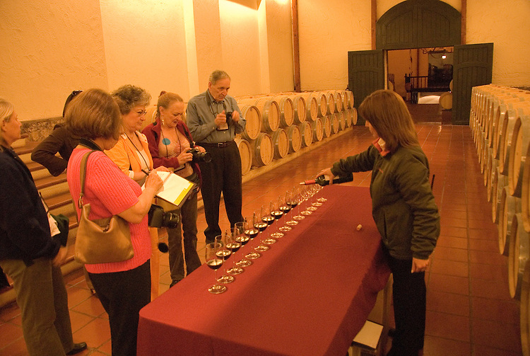 Chile Wine Country: Wine touring and tasting at Concha y Toro winery, Vina Concha y Toro, near Santiago..Photo #: ch480-32918..Photo copyright Lee Foster, 510-549-2202, www.fostertravel.com, lee@fostertravel.com.