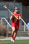 27 February 2016: Maryland's Caroline Wannen. The University of North Carolina Tar Heels hosted the University of Maryland Terrapins in a 2016 NCAA Division I Women's Lacrosse match. Maryland won the game 8-7.