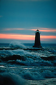 Manistique lighthouse on Lake Michigan.
