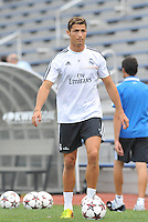 Saint Louis, MO August 1 2013<br /> Cristiano Ronaldo.<br /> Real Madrid practiced at Herman Stadium on the campus of Saint Louis University ahead of their international friendly with Inter Milan at the Edward Jones Dome.