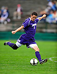 13 September 2009: University of Portland Pilots' forward Ryan Luke, a Junior from Bothell, WA, in action against the University of New Hampshire Wildcats during the second round of the 2009 Morgan Stanley Smith Barney Soccer Classic held at Centennial Field in Burlington, Vermont. The Pilots defeated the Wildcats 1-0 and inso doing were the Tournament Champions for 2009. Mandatory Photo Credit: Ed Wolfstein Photo
