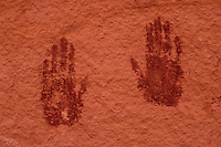 Two Hand Prints on Wall, Natural Bridges National Monument, Utah