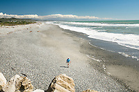 Beach in Greymouth, West Coast, Buller Region, New Zealand