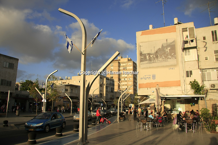 Israel, Herzliya's city center, Sokolov street