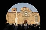 St Pedro Church in the Plaza Mayor Square, Avila, Castile and Leon, Spain