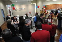 NWA Democrat-Gazette/ANDY SHUPE<br /> Visitors fill Whitbeck Labs in Springdale Wednesday, Jan. 18, 2017, during a grand opening celebration for the newly constructed lab and office building.