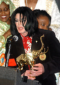 Recording Superstar Michael Jackson receives the Humanitarian Award from The African Ambassadors' Spouses Association for his worldwide humanitarian efforts, particularly in Africa, at the Embassy of Ethiopia in  Washington, D.C. on April 1, 2004.  His charitable contributions have been in excess of 50 million US dollars worldwide during his lifetime..Credit: Ron Sachs / CNP