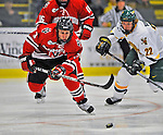 18 January 2008: Northeastern University Huskies' forward Ryan Ginand, a Junior from Milford, MA, in action against the University of Vermont Catamounts at Gutterson Fieldhouse in Burlington, Vermont. The two teams battled to a 2-2 tie in the first game of their 2-game weekend series...Mandatory Photo Credit: Ed Wolfstein Photo