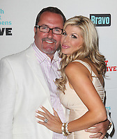 guest &amp; Alexis Bellino.Bravo's Andy Cohen's Book Release Party For &quot;Most Talkative: Stories From The Front Lines Of Pop Held at SUR Lounge, West Hollywood, California, USA..May 14th, 2012.half length white dress cream suit jacket glasses goatee facial hair pink stripe shirt.CAP/ADM/KB.&copy;Kevan Brooks/AdMedia/Capital Pictures.