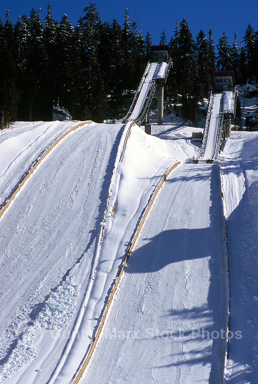 Large and Normal Hill Ski Jumps at Whistler Olympic Park - Site of Vancouver 2010 Winter Games British Columbia Canada