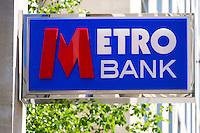 Metro Bank Sign, new high street bank - May 2014.