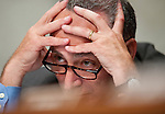 June 29, 2010 - Washington, District of Columbia, U.S., -  Senator Chuck Schumer listens as Solicitor General Elena Kagan appears before the Senate Judiciary Committee for her second day of hearings on her nomination to be an associate justice of the Supreme Court.(Credit Image: © Pete Marovich/ZUMA Press)