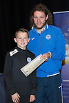 St Johnstone FC Youth Academy Presentation Night at Perth Concert Hall..21.04.14<br /> Stevie May presents to Ewan Loudon<br /> Picture by Graeme Hart.<br /> Copyright Perthshire Picture Agency<br /> Tel: 01738 623350  Mobile: 07990 594431