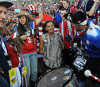 Christen Press at the USA vs Mexico Concacaf Cup