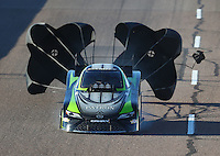 Feb 24, 2017; Chandler, AZ, USA; NHRA funny car driver Alexis DeJoria during qualifying for the Arizona Nationals at Wild Horse Pass Motorsports Park. Mandatory Credit: Mark J. Rebilas-USA TODAY Sports