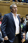 05 November 2015: Pfeiffer head coach Tooey Loy. The Duke University Blue Devils hosted the Pfeiffer University Falcons at Cameron Indoor Stadium in Durham, North Carolina in a 2015-16 NCAA Women's Basketball Exhibition game. Duke won the game 113-36.