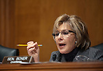"Senator Barbara Boxer (D-CA) during an Environment and Public Works Committee during a hearing on ""Oversight Hearing on Disease Clusters and Environmental Health."""