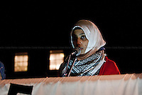 Protester - 2011<br /> <br /> London, 25/02/2011. Demonstrators show support and solidarity with the Arab People by marching from the Bahraini Embassy, via the Libyan Embassy, and to Downing Street. The demonstration was supported by: &quot;Libya Watch for Human Rights&quot;, &quot;Yemeni Human Rights Watch&quot;, &quot;Egypt Liberation Initiative&quot;, &quot;Bahraini Freedom Movement&quot;, &quot;Stop the War Coalition&quot;, &quot;Palestine Solidarity Campaign&quot; and &quot;British Muslim Initiative&quot;.