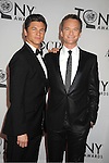 Neil Patrick Harris and boyfriend David Burtka attends th 66th Annual Tony Awards on June 10, 2012 at The Beacon Theatre in New York City.