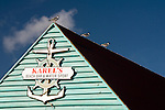 Kralendijk, Bonaire, Netherland Antilles -- Karel's Beach Bar is open air and sits right at the waterfront in downtown Kralendijk, Bonaire, where it is a center of party activity most evenings.