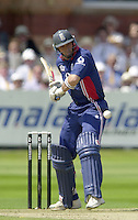 .13/07/2002.Sport - Cricket -NatWest Series Final- Lords.England vs India.Nasser Hussian.