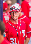 5 March 2016: Washington Nationals pitcher Max Scherzer stands in the dugout during a Spring Training pre-season game against the Detroit Tigers at Space Coast Stadium in Viera, Florida. The Nationals defeated the Tigers 8-4 in Grapefruit League play. Mandatory Credit: Ed Wolfstein Photo *** RAW (NEF) Image File Available ***