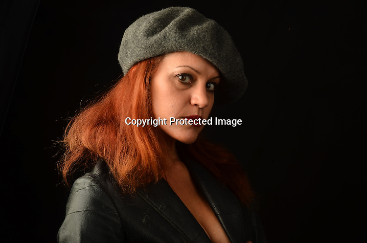 Stock photo of Bad Girl in Leather