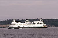 A Washington State ferry makes it's way from Bremerton to Seattle, Washington.