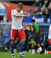 FUSSBALL   1. BUNDESLIGA   SAISON 2011/2012    6. SPIELTAG Hamburger SV - Borussia Moenchengladbach            17.09.2011 Slobodan RAJKOVIC (Hamburg) enttaeuscht