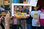 Participants pose for a photo during the CROP Hunger Walk, held October 27, 2013, in Raleigh, North Carolina.
