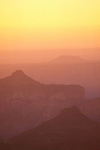 Hazy sunrise over the Grand Canyon from Point Imperial, North Rim, Grand Canyon National Park, Arizona USA
