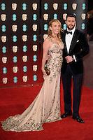 Sam Taylor-Johnson &amp; Aaron Taylor-Johnson at the 2017 EE British Academy Film Awards (BAFTA) held at The Royal Albert Hall, London, UK. <br /> 12 February  2017<br /> Picture: Steve Vas/Featureflash/SilverHub 0208 004 5359 sales@silverhubmedia.com