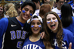 04 February 2015: Duke fans, also known as Cameron Crazies. The Duke University Blue Devils hosted the Georgia Tech Yellow Jackets at Cameron Indoor Stadium in Durham, North Carolina in a 2014-16 NCAA Men's Basketball Division I game.