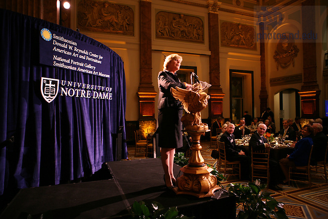 Anne Thompson hosts a dinner honoring Fr. Hesburgh at the Smithsonian Institute