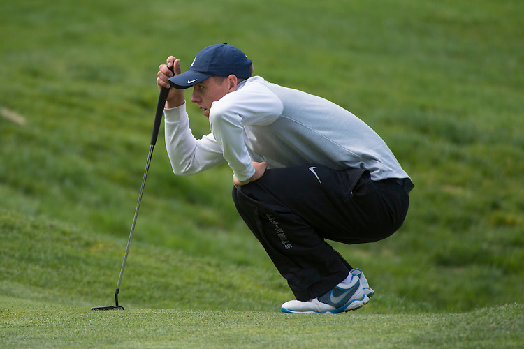 April 15, 2014; Bremerton, WA, USA; San Diego Toreros golfer Grant Forrest during the WCC Golf Championships at Gold Mountain Golf Club.