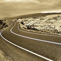 The sinuous backroad that cuts through the heart of the Hogsback region of southern Utah.