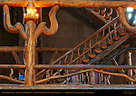 Old Faithful Inn, Log and Limb Balcony, National Park Rustic Architecture, Yellowstone National Park, Wyoming