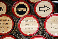 Kegs in the Guinness Brewery in Dublin, Ireland