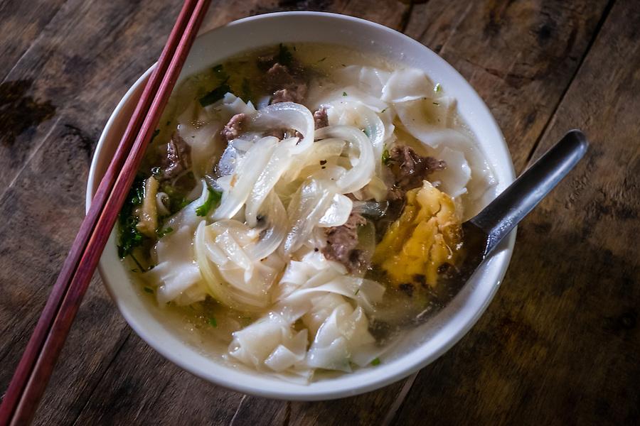 SAPA - VIETNAM - CIRCA SEPTEMBER 2014: Typical Vietnamese noodle soup