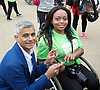 Sadiq Khan, Mayor of London marks National Paralympic Day and Liberty Festival at the Queen Elizabeth Olympic Park 3rd September 2016<br />