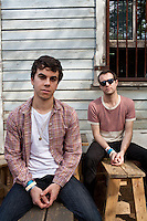 Editorial photo shoot with Electric Guest, SXSW, Austin, Texas, USA, March 2012