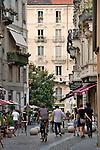 A pedestiran street in Turin, Italy