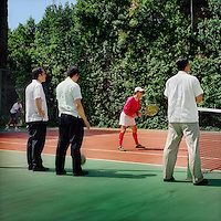 Legionaries of Christ priests play tennis to exercise. The Legion of Christ is a conservative Roman Catholic congregation whose members take vows of chastity, obedience and poverty.