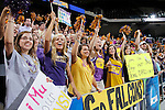 24 MAR 2012:  University of Montevallo fans cheer against Western Washington University during the Division II Men's Basketball Championship held at the Bank of Kentucky Center in Highland Heights, KY. Western Washington won the national title 72-65.  Joe Robbins/NCAA Photos